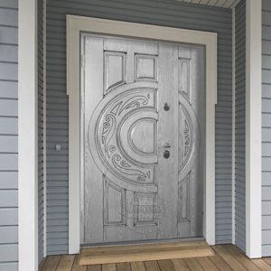 Каталог входных металлических дверей из категории «нестандартные»