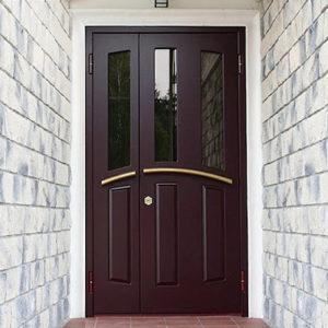 Каталог входных металлических дверей из категории «коттеджные»